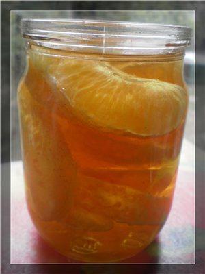 Апельсиновые дольки в ромовом сиропе