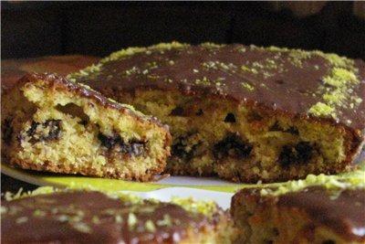 Кокосовий кекс-пиріг з шматочками шоколаду