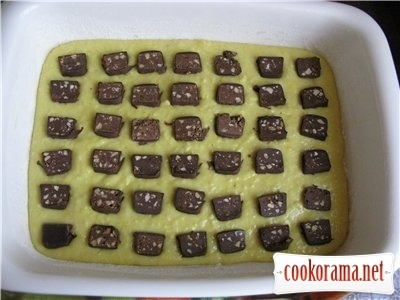 Кокосовий кекс - пиріг з шматочками шоколаду