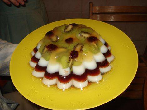 Желейный тортик из агар-агара