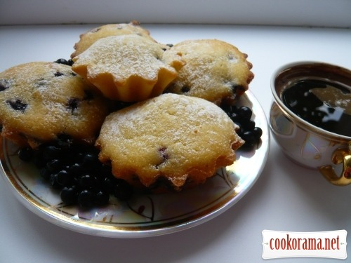 Cakes with blueberries