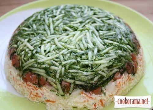 Шарований салат з лососем