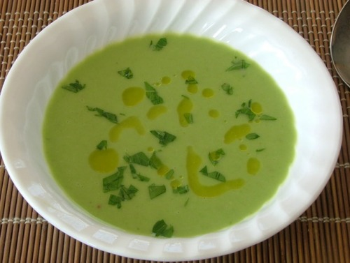 Суп-пюре з зеленого горошку з пивом