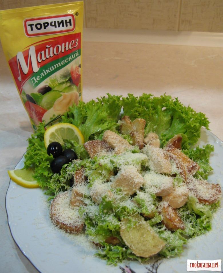 Салат цезарь рецепт с с оливками и
