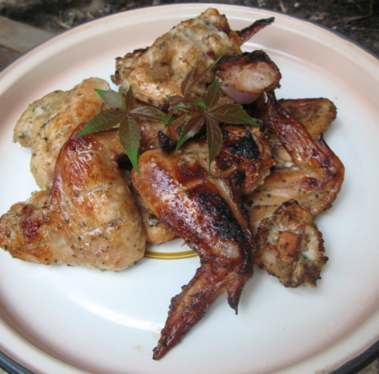 Chicken wings with beer marinade