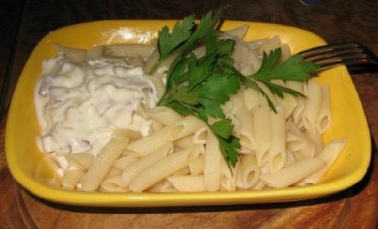 Pasta with ukrainian sauce