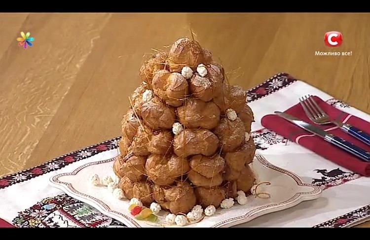Французький новорічний торт «Крокембуш» від Лізи Глінської