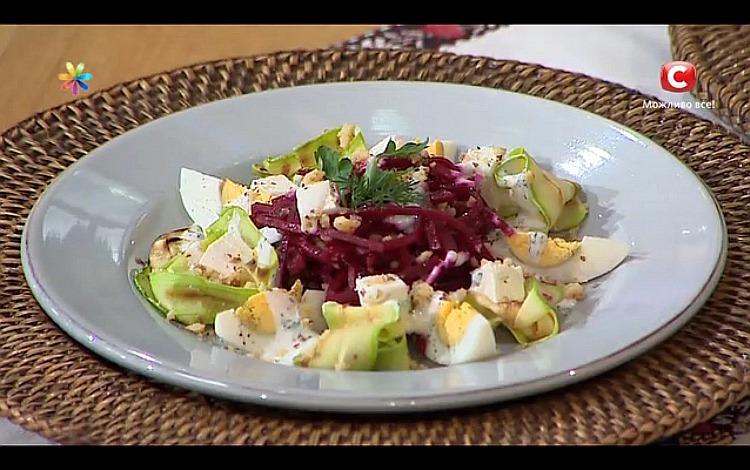 Праздничный салат с айран-кремом от Сергея Калинина