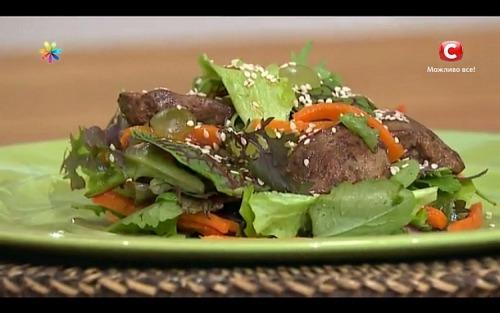 Теплий салат «Гематоген на тарілці» від Тетяни Литвинової