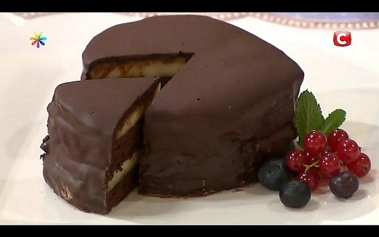 Шоколадний десерт «Захер Панна-котта» від Оксани Мансировой