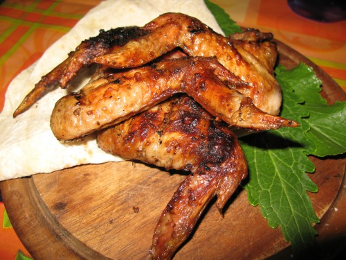 Крылышки в соево-горчичном маринаде