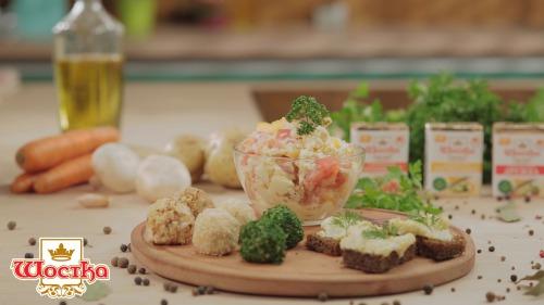 Салат з плавленого сиру «Білочка»