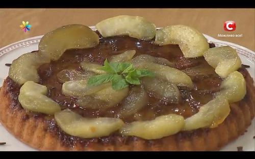 Яблочный пирог с карамелью от Винченцо Барба