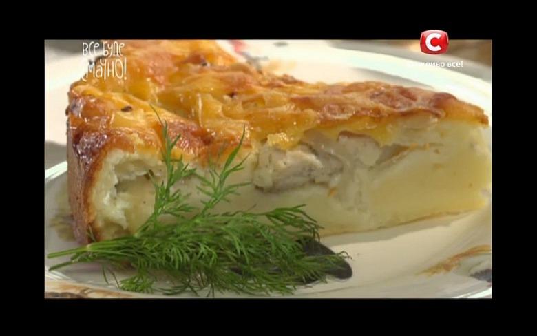 Пирог из куриных грудинок от Сергея Калинина
