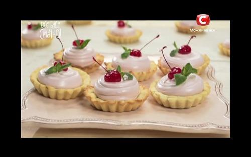 Тарталетки с вишнями от Аллы Ковальчук