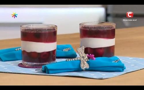 Творожно-желейный десерт от Татьяны Литвиновой