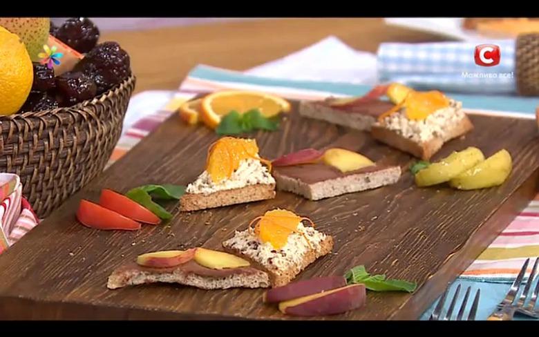 Полезные бутерброды: с творогом, финиками и апельсинами