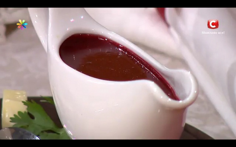 Невероятный соус из кизила от Юлии Бортник