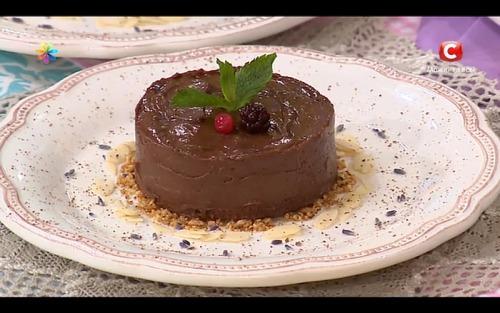 Французский шоколадно-лавандовый десерт