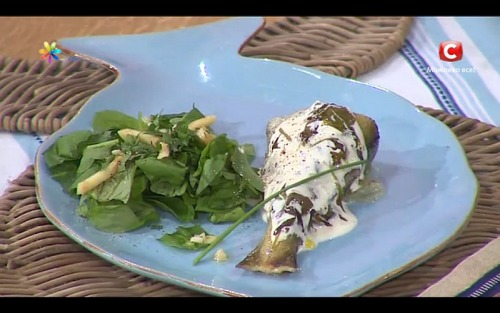 Рыба под щавелевым соусом от Аллы Ковальчук