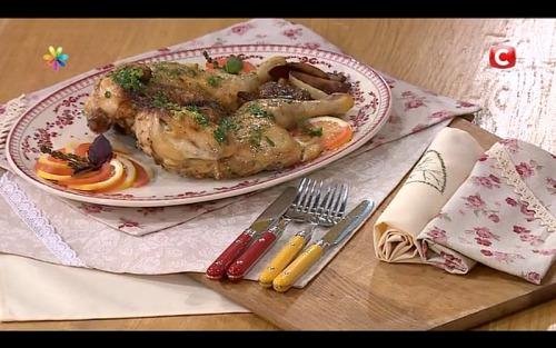 Запеченная курица с лимонным маслом от Сергея Калинина