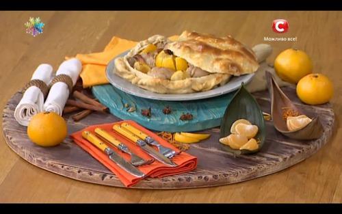 Куриная голень в мандарине от Ольги Сумской
