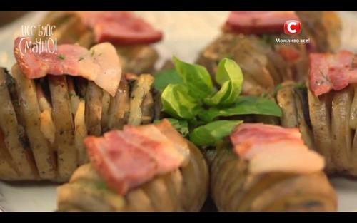 Запеченный картофель с грибами от Аллы Ковальчук