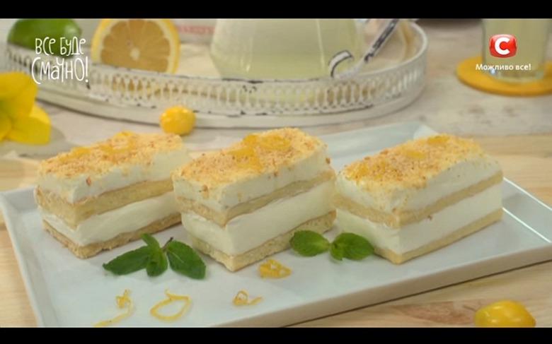 Лимонные пирожные от Самвела Адамяна