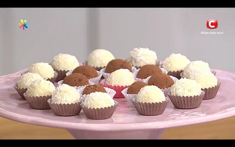 Кокосовые трюфели из белого шоколада от Лизы Глинской