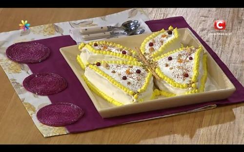 Торт-бабочка на киселе от Лилии Ребрик и Андрея Дикого