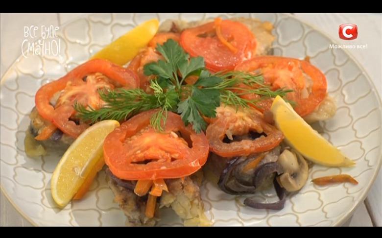 Запеченный минтай с овощами от Аллы Ковальчук