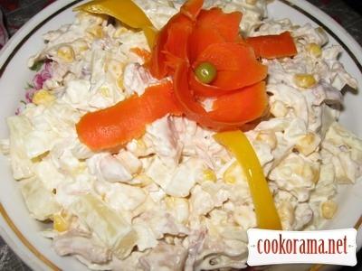 Салат «Курка з ананасом»