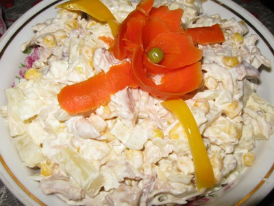 "Салат ""Курица с ананасом"""