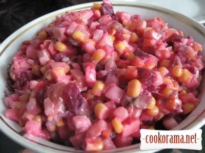 Салат «Овощно-фруктовый постный»