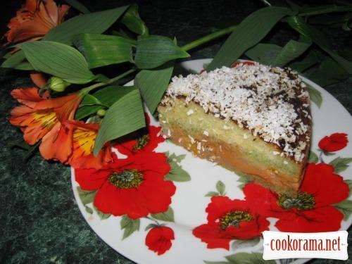 Торт «Ніжний персик»
