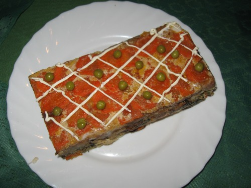 Рыбный торт