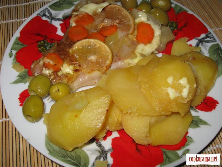 Пангасиус запеченный в фольге