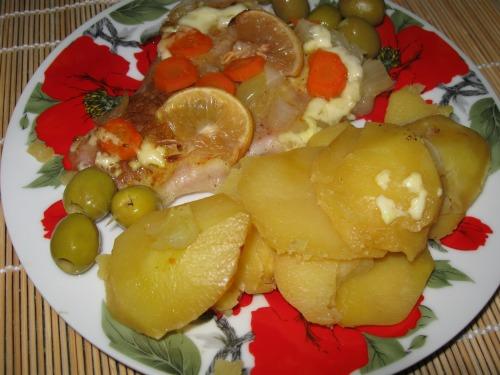 Пангасіус запечений у фользі