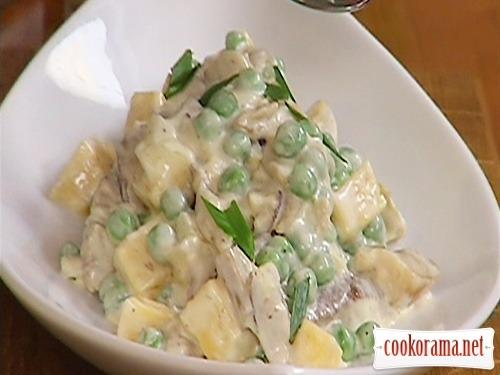 салат з печериць рецепт