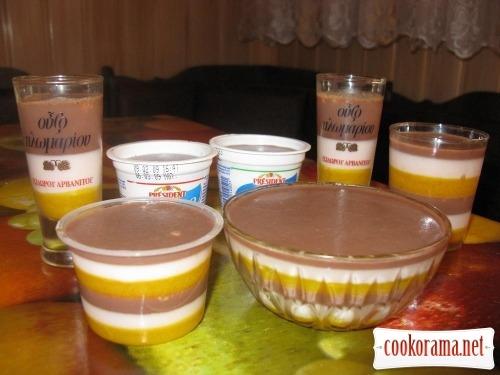 Десерт-желе «Триколор»