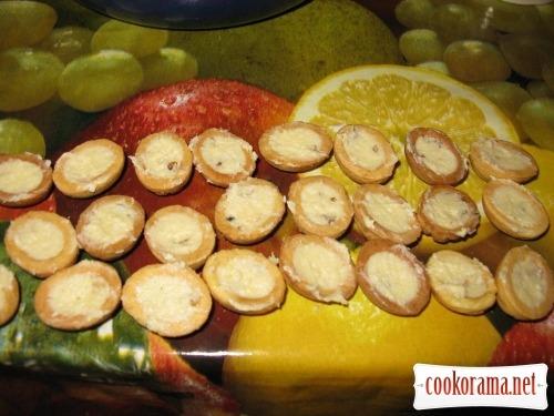 Печиво «Горішки» з заварним горіховим кремом