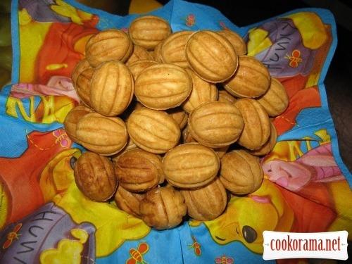 Печенье «Орешки» с заварным ореховым кремом