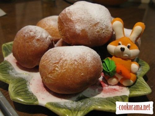Пончики в медовому сиропі (без дріжджів)