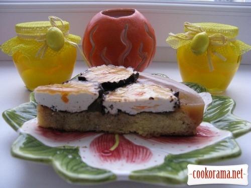 Бисквит на манке и торт-пирог с него
