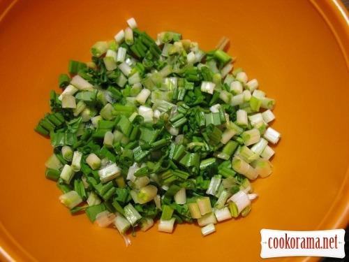 Найпростіший салат з черемші
