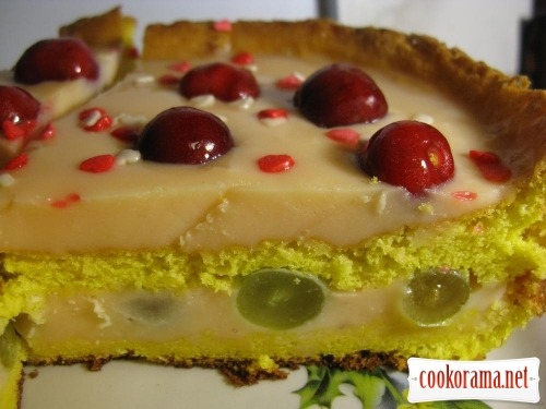 Торт з ягодами і желе