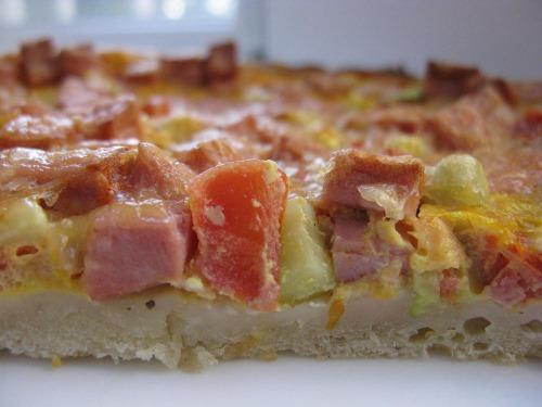 Соковита піца на кефірному тісті