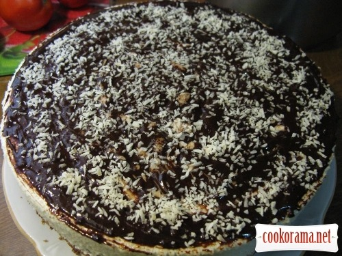 Торт «Птичье молоко» с фруктами и шоколадом