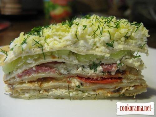 Торт закусочный из блинов № 2