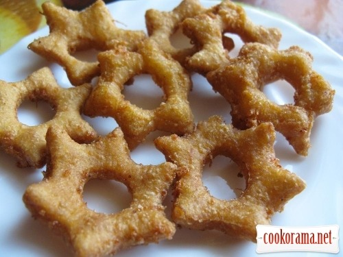 Cheese bagels - stars with pumpkin